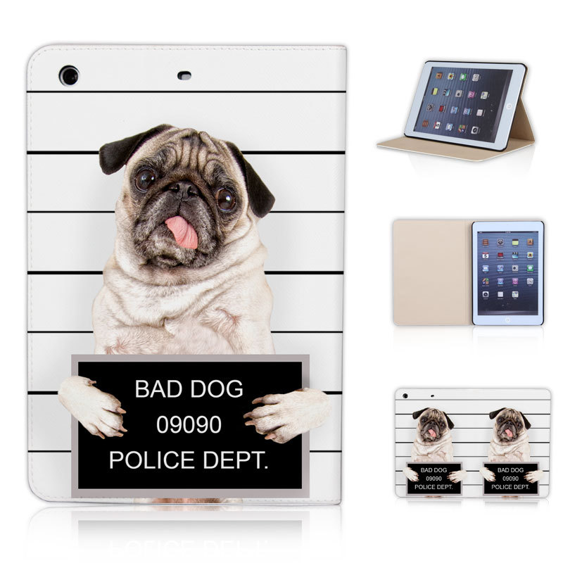 BTD BAD DOG Flip Leather Case Cover Print for ipad mini 1 2 3 Sleep wake up Magnetic Function Free Screen Film P020-ip-mini