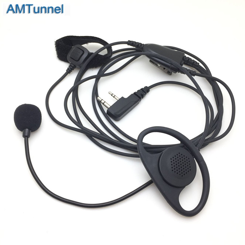 Type B Headset With Microphone FOR BAOFENG Bf888s Uv82 Uv6r Uv5r FOR KENWOOD Tk3107 WALKIE TALKIE
