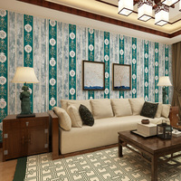 beibehang Retro European Style Large Nonwovens Wallpaper Green American Bedroom Background Wall photo wallpaper