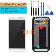 For Samsung Galaxy S6 active LCD G890 G890A Display Touch Screen Digitizer Assembly Replacement for samsung g890 display Parts