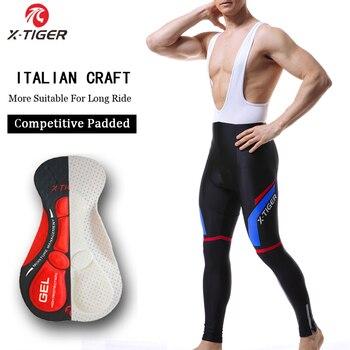 X-TIGER Pro 5D Gel Pad Invierno Polar térmico pantalones con tirantes de...