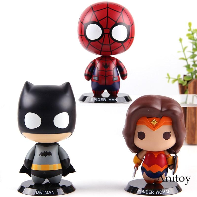 DC Marvel Action Figure Spiderman Batman Wonder Woman PVC Figurine Spider Man Collection Model Toys for Boys figurine