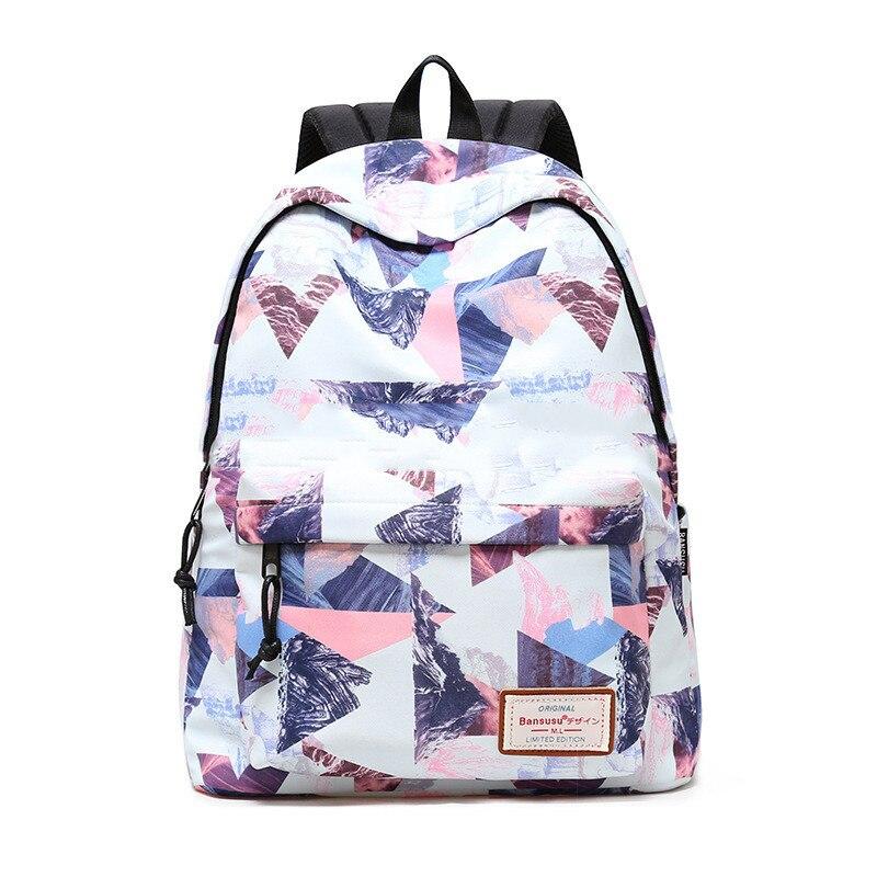 Women Backpack for School Teenagers Girls Stylish Ladies Bag Backpack Female Printing