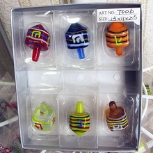 Custom color glass sculpture Munuola gyro high quality hand blown toy model decoration Home Furnishing Ornament Set