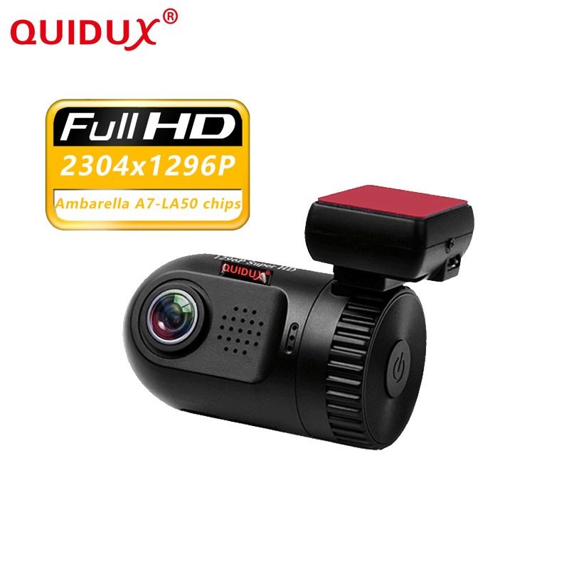 QUIDUX Ambarella A7 chip HD 1296p Mini 0805 Car DVR Dash Camera 1.5WDR Night Vision