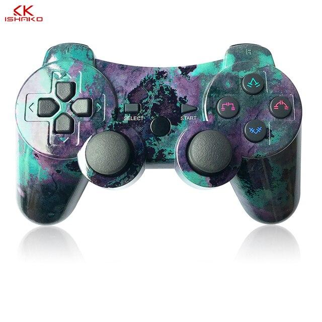 K ISHAKO المراقب المالي ل PS3 PC سماعة لاسلكية تعمل بالبلوتوث غمبد لسوني PS3 بلاي ستيشن 3 لعبة dualshock Joystic