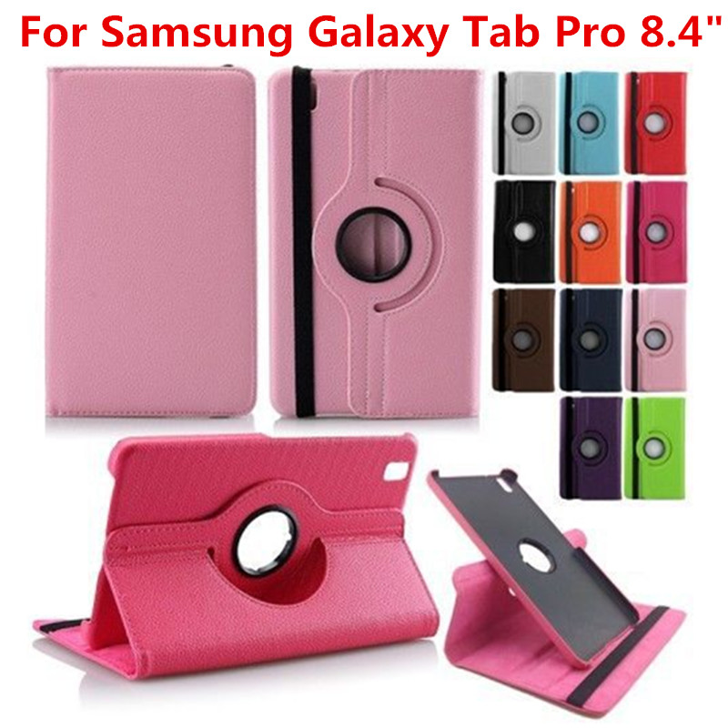 For Samsung Galaxy Tab Pro 8.4 inch T320 T321 T325 SM-T320 SM-T321 SM-T325 Tablet Case 360 Rotating Bracket Stand Leather Cover