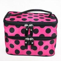 5 Pcs Of BEAU Polka Dots Beauty Case Makeup Organizer Large Cosmetic Bag For Women