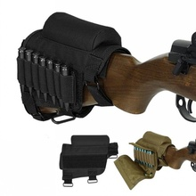 CQC Airsoft Tactical Hunting Rifle Buttstock Cheek Rest Pouch With AR15 Ammo Shell Carrier Case Holder Gun Accessorries
