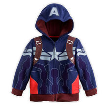 7 Style 3-8yrs!!Captain America Costume Kids Jacket Hulk Fashion 2016 New Boys Hoodies And Sweatshirts Boys Coat Outwear Jacket