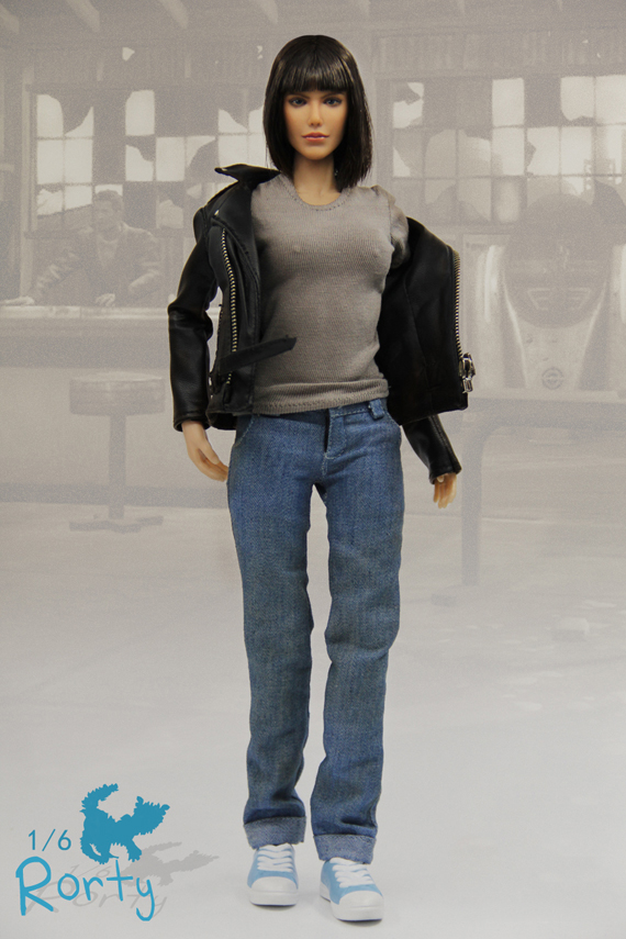 1/6 Atom Cats Rorty Female Action Figure Model Figures With Jacket Jeans Set Collections 1 6 soldier action figure the dark zone agent renegad model accessories full set figures