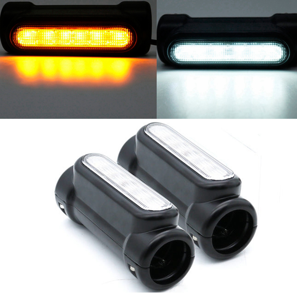 Motorcycle Accessories for Touring Highway Bar Switchback Driving Light White Amber LED for Victory Crash BarsMotorcycle Accessories for Touring Highway Bar Switchback Driving Light White Amber LED for Victory Crash Bars