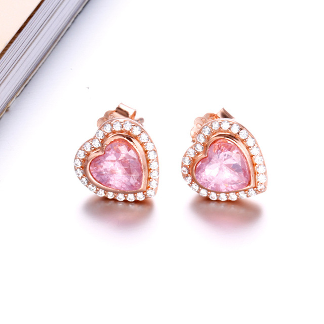 pandora earrings for women rose gold
