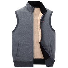 ICPANS Winter Thick Cotton Vests Mens Loose Thicken Fleece Vest Waistcoat  Mens Outerwear Men Coats Plus Size XXXXXL