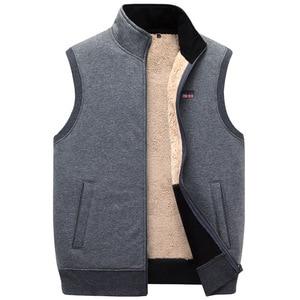 Image 1 - ICPANS Winter Thick Cotton Vests Mens Loose Thicken Fleece Vest Waistcoat  Mens Outerwear Men Coats Plus Size XXXXXL