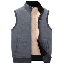 Мужской толстый жилет ICPANS, свободный флисовый жилет, верхняя одежда размера плюс, XXXXXL, для зимы