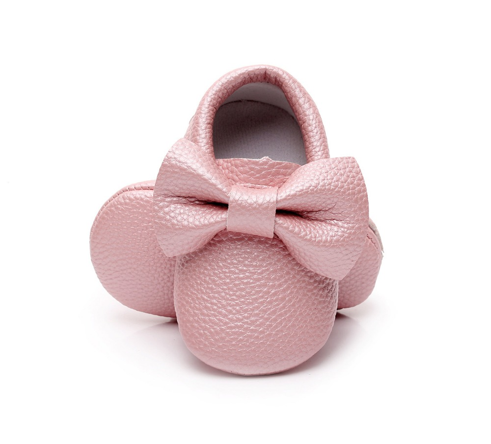New-style-Pink-PU-Leather-Baby-Moccasins-Bow-soft-bottom-child-boys-girls-First-Walkers-fringe-infant-toddler-baby-shoes-0-24-M-1