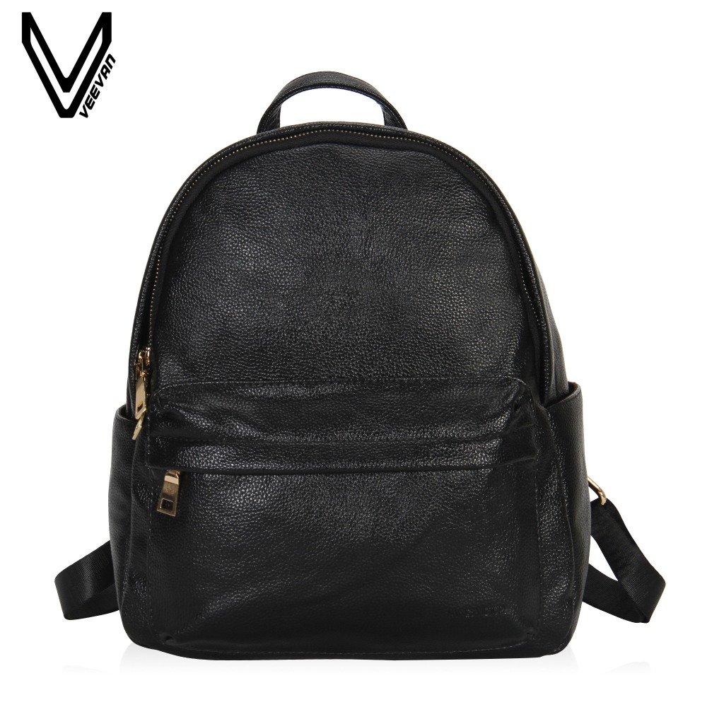 VEEVANV Women Fashion Faux Leather Backpack for Women Dressy Campus School Backpack Purse For Girls Solid PU Schoulder Backpask women backpack fashion pvc faux leather turtle backpack leather bag women traveling antitheft backpack black white free shipping