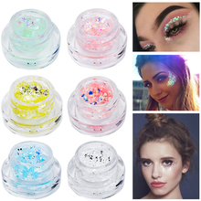 Diamond Sequins Ögonskuggor Mermaid Sequins Gel Fairy Makeup Glitter Eyeshadow Sequins Metal Hologram Ögonskugga Pulver Maquiagem