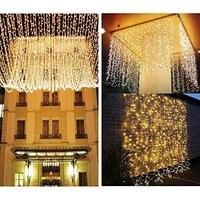 3*3 m 304LED cortina de luz decoração do casamento luz cordas Natal luz Do sincelo luzes de quintal|Fios de iluminação| |  -