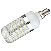E12 5W Dimmable 36 SMD 5050 LED Corn Light Bulb Lamp Color Temperature:Pure White(6000 6500K) Amount:10 Pcs
