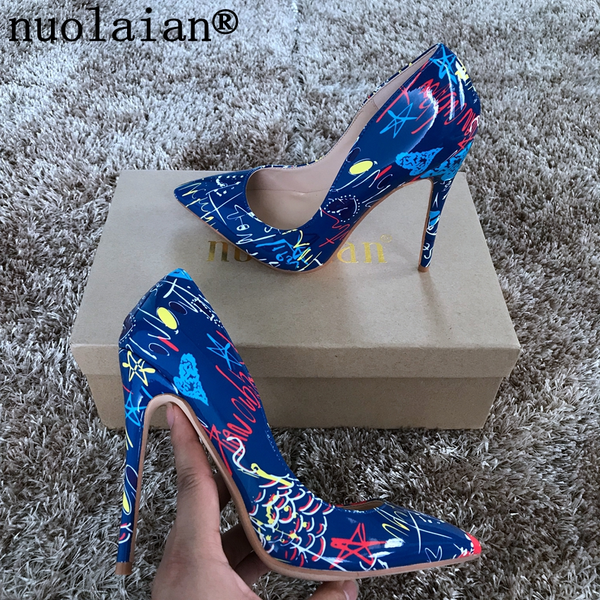 Patent Leather Ladies Shoes Summer 8 10 12cm Thin Heels Woman Party Wedding Shoes Womens Pumps