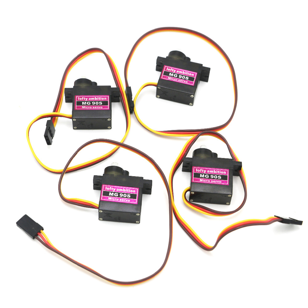 4pcs/lot lofty ambition MG90S 9g Metal Gear Upgraded SG90 Digital Micro Servos for Smart Vehicle Helicopter Boart Car платья lofty платье