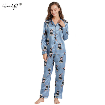 New Arrival Women Silk Pajamas Suit All  Seasons Long Sleeve Pyjamas Women Lounge Pajama Sets Silk Satin Pijama Sleepwear M-5XL pajamas