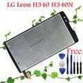 100% de garantia display lcd original + digitador da tela de toque para lg leon h340 h340n h320 h324 substituição da tela
