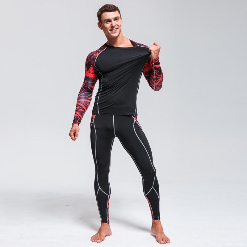 Ski Underwear Set Men Quick-drying Tights Warm Base layer Compression Clothing Winter Jogging Suit Men Thermal Underwear Winter tights