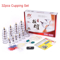 32pcs Vacuum Cupping Set Massage Jars Vacuum Cans Acupuncture Suction Cup Vacuum Massage Relax Therapy Pain Relief Health Care