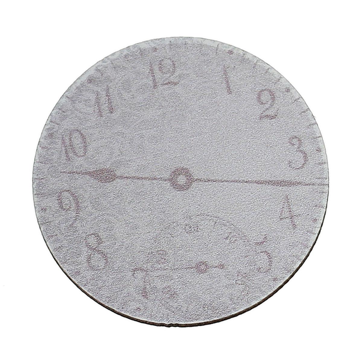 Wood Cabochons Scrapbooking Embellishments Findings Round Gray Clock Pattern 3.8cm(1 4/8)Dia,30 PCs new