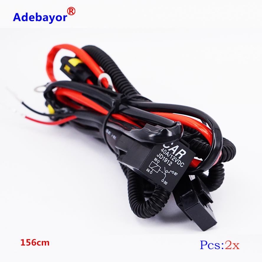 2x big promotion h11 relay wire harness wiring adapter. Black Bedroom Furniture Sets. Home Design Ideas