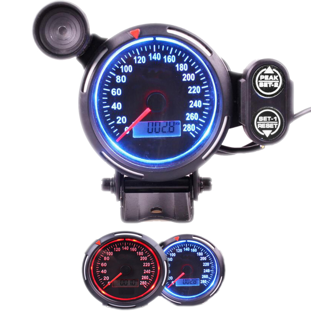 80 mm Digital Car Speedometer Gauge 0 280 MPH Speedometer with Shift Light fit for Universal