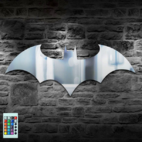 Creative USB Batman Game Theme Mirror Night Light Colorful Remote Control LED Wall Lamp Living Room Bedroom ZBD0009