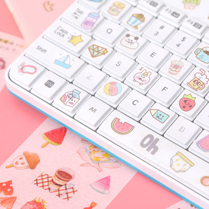 6Sheets Cute Unicorn Flower Stickers Heart Adhesive Sticker Vintage Stationery Stickers For Kids Decor Scrapbooking Diary Albums