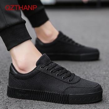 db8941fa 2018 модные повседневные льняные туфли для взрослых дышащая обувь кроссовки  для мужчин мужские парусиновые туфли на плоской подошве кроссов.
