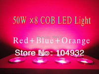 120 Angle 50W 8 400W COB LED Hydroponic Plant Grow Light Panel Red And Blue Orange