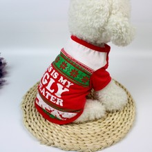 New Red Pet Dog Clothes Christmas Costume Cartoon For Small Cloth Dress Winter Apparel Coat XS/S/M/L