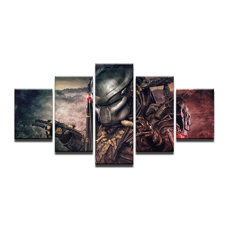 5 Pieces canvas painting Home Decor Canvas Painting Picture The Lord Of The Rings Film Poster Wall For Home Canvas lzmlzm