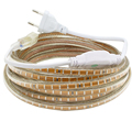 220V 3014 Led Strip Waterproof With EU Power plug IP65 120Leds/M Flexible LED Tape Ribbon Outdoor 1M 2M 3M 5M 10M 15M 20M 30M