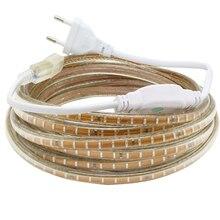 220V 3014 Led Strip Waterproof With EU Power plug IP65 120Leds/M Flexible LED Tape Ribbon Outdoor 1M 2M 3M 5M 10M 15M 20M 30M