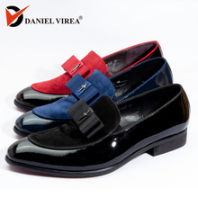 c7122d184b Buy pointed patent blue shoe men and get free shipping on AliExpress.com