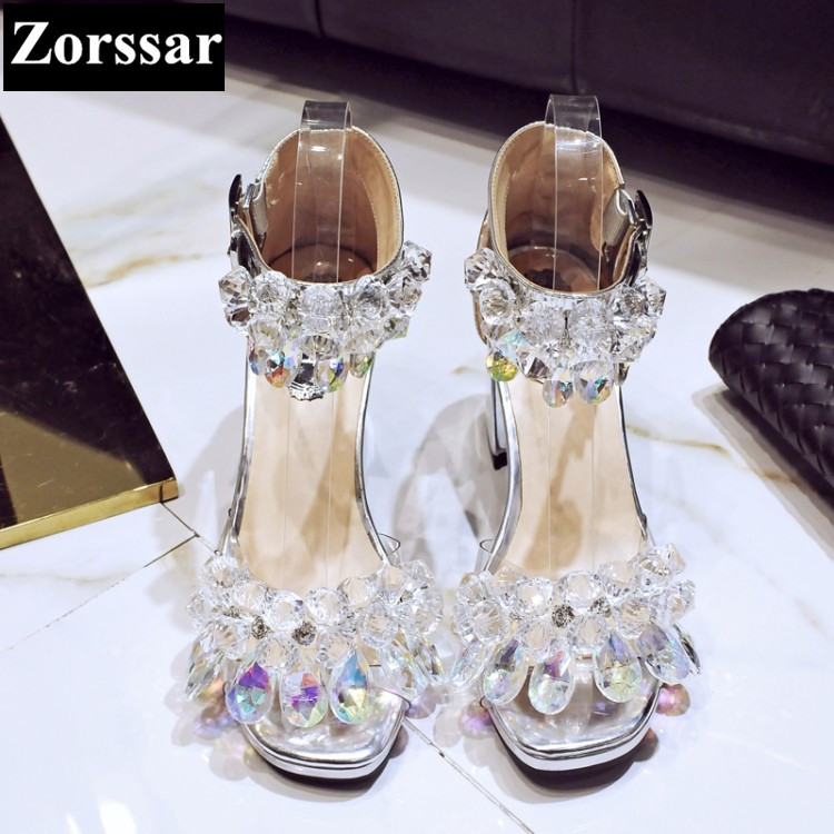 Summer shoes woman sandals high heels women Mary Jane shoes silver 2017 New Fashion rhinestone peep toe womens pumps heels plus size 2017 new summer suede women shoes pointed toe high heels sandals woman work shoes fashion flowers womens heels pumps