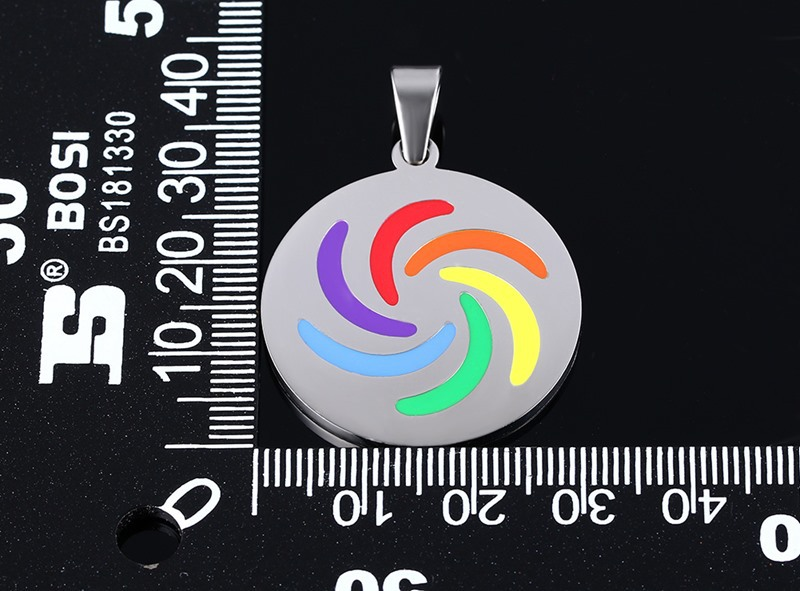 GCC2 европейские и американские ювелирные s925 серебро капли висит Цепочки и ожерелья Аксессуары шесть цветов радуги