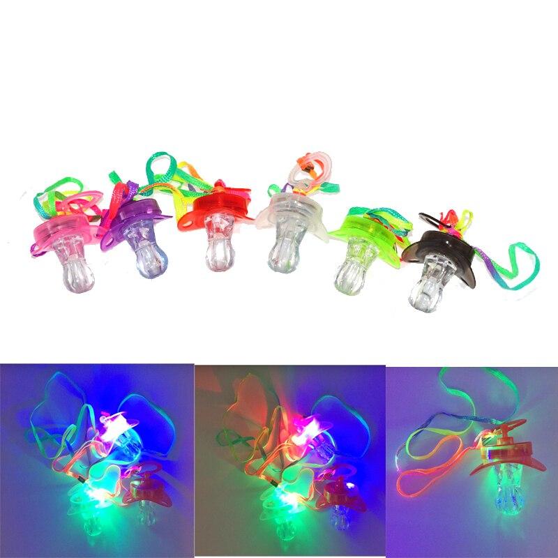 40pcs lot New glow flashing whistle led children s luminous toys for concert nightclub party noise