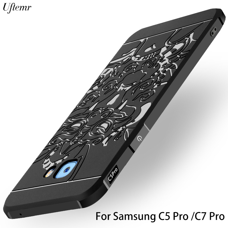 premium selection 9219e 6edc9 US $4.4 45% OFF|For Samsung Galaxy C5 Pro C7 Pro Case Cover shock proof 3D  Dragon Soft Silicon Slim for samsung c9 pro back cover original-in Fitted  ...