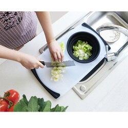 Kuchenna deska do krojenia z spustowy kosz owoce warzywa blok do krojenia chowany deska do krojenia wielofunkcyjny gadżet kuchenny