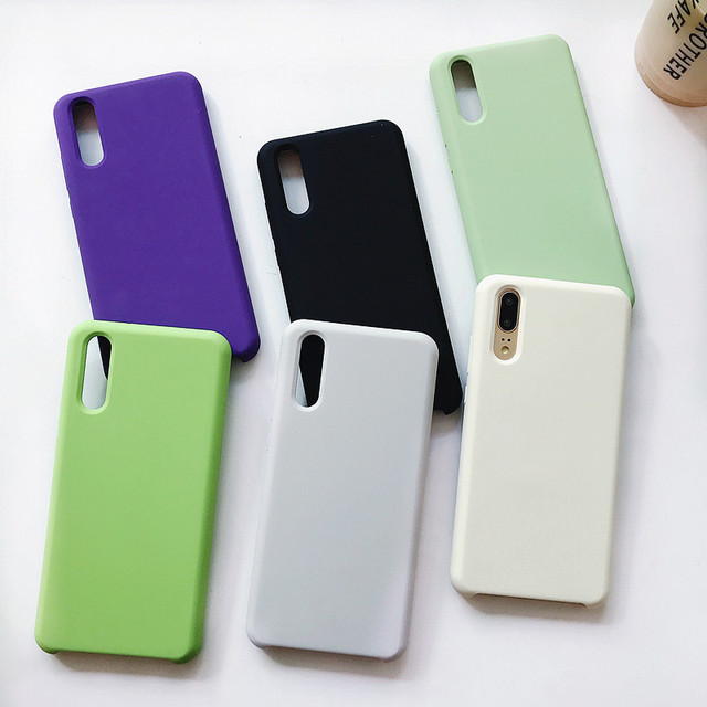 Luxury Liquid Silicone Skin Friendly Soft Smooth Anti-dirt P20 phone Case for Huawei P20 Pro case HUAWEI P20 Lite Back Cover