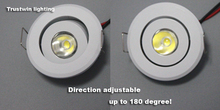 10 pieces Indoor outdoor 110V 220V white Mini ceiling LED spot light lamp dimmable 1W 3W mini LED downlight dimmable